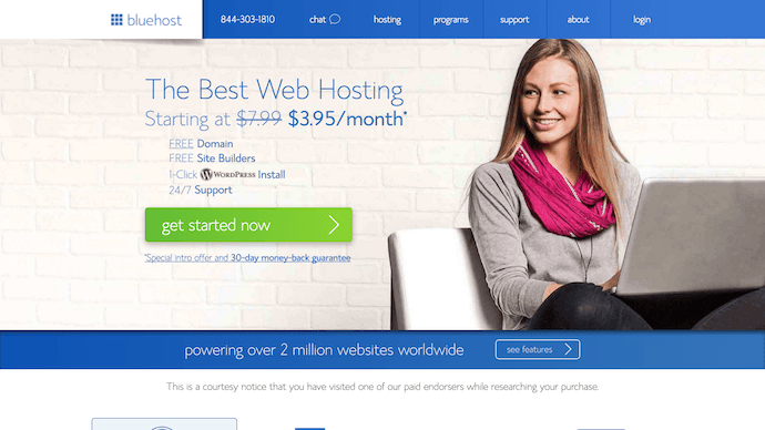 Building a wordpress blog on Bluehost