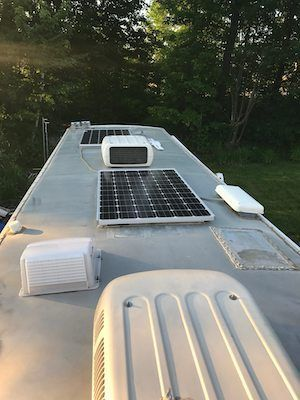 solar instal on our RV roof