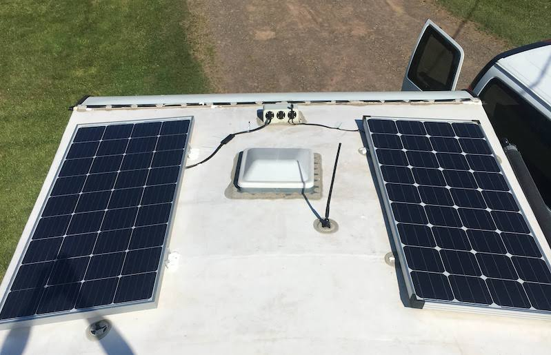 installing solar panels on a travel trailer